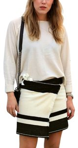 Isabel Marant Mini Wrap Skirt Black and White