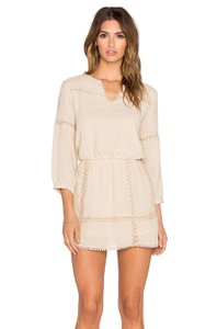 ANINE BING short dress Nude Lace Trim 3/4 Sleeve on Tradesy