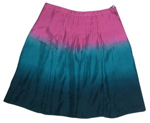 Nine West Silk Dye Size 8 Nwt Skirt purple/turquoise
