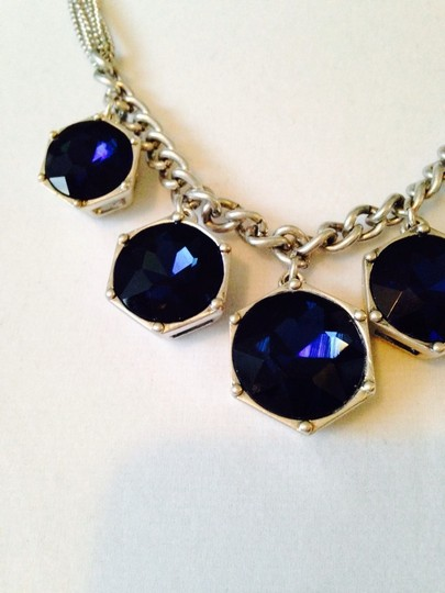 Kenneth Cole Kenneth Cole Faceted Blue Crystals In Silver-Tone Multi-Chain Necklace Only! Matching Pieces Sold Seperately.