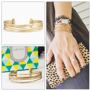 Stella & Dot Stella & Dot Gold Quinn Cuff Authentic Vintage Plate Adjustable New In Box