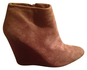 Forever 21 Wedge Bootie Brown Boots