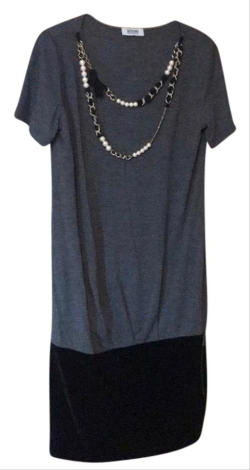56cc3f06ae3 Moschino Grey Cheap and Chic Short Casual Dress Size 10 (M) - Tradesy