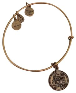 """Alex and Ani """"what's for you will not pass you"""" bracelet"""