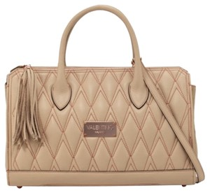 Valentino Satchel in nude, tan, rose gold