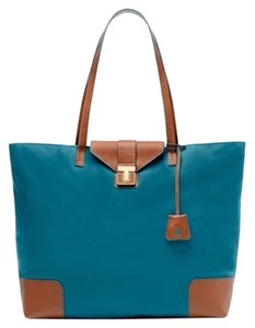 Tory Burch Nylon Tote in Turquoise