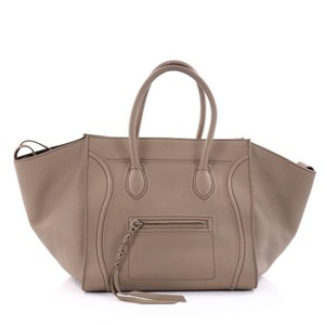 Cline Leather Tote in khaki