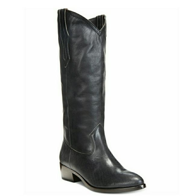 Item - Black Western Pull-on Leather Riding Boots/Booties Size US 8 Regular (M, B)