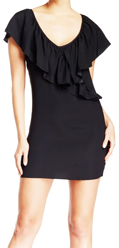 David Lerner Black Xs Disney Maleficent Silk Ruffle Short Casual