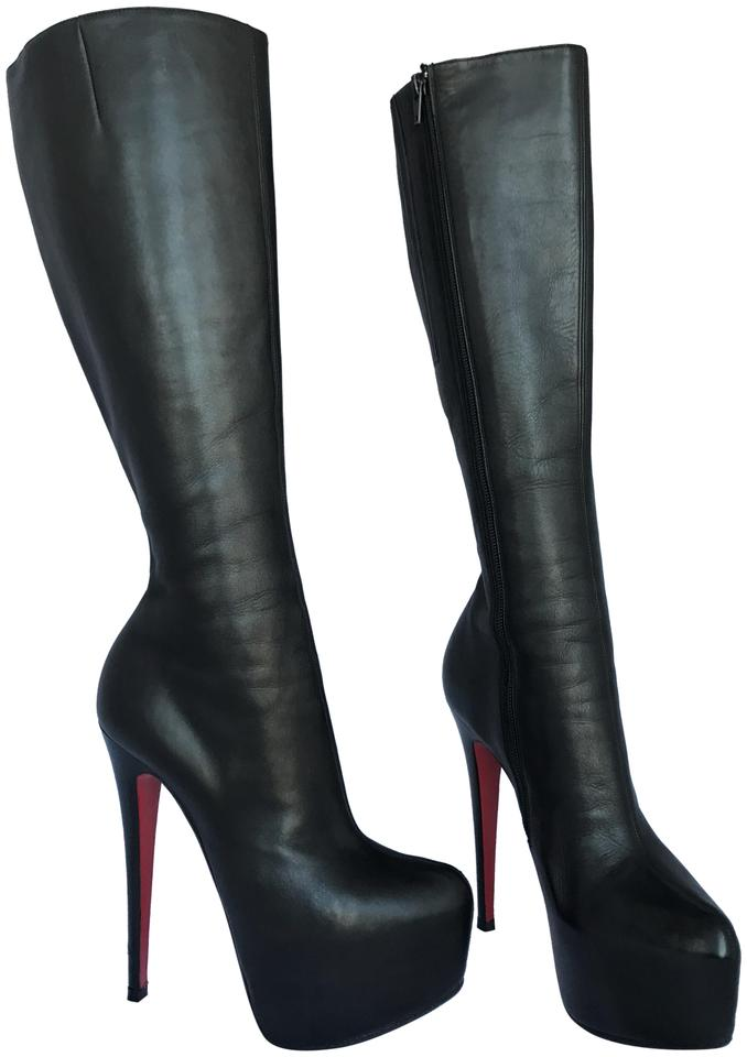 3a1106d202d Christian Louboutin Thigh High Over The Knee Ankle Pump Black Boots Image 0  ...