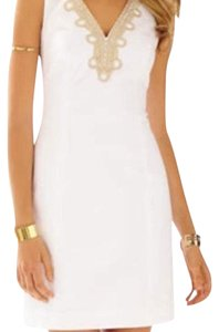 Lilly Pulitzer short dress Gold and White on Tradesy