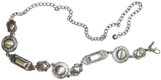 Chico's Silver Women's Brushed Metal Linked Chain Brass