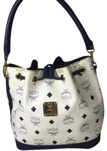 MCM Tote in white and navy