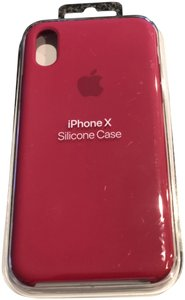 Apple Apple IPhone X Silicone Case Rose Red