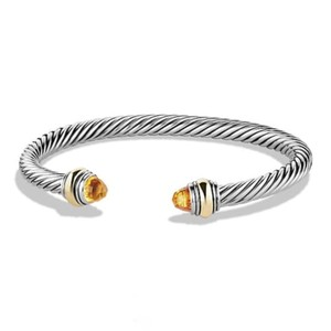 David Yurman BRAND NEW!! NEVER WORN!! David Yurman Citrine 14 Karat Yellow Gold and Sterling Silver Cable Bracelet