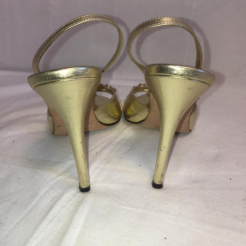 3ebf13358ff Laundry by Shelli Segal Gold Beaded Sandals Pumps Size US 8.5 ...