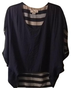 Imaginary Voyage Top Navy Blue