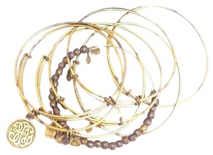 Alex and Ani Alex and Ani Stackable Wrap Bracelets (Lot of 8) Russian Gold