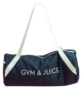 PRIVATE PARTY Fabfitfun Gym New With Barre denim Travel Bag