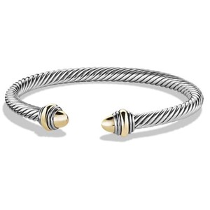 David Yurman BRAND NEW!! NEVER WORN!! David Yurman Gold 14 Karat Yellow Gold and Sterling Silver Cable Bracelet