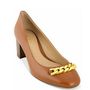 Ralph Lauren Saddle Tan Pumps