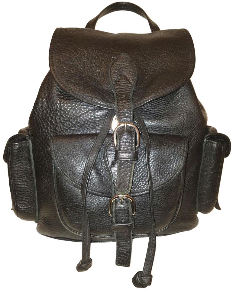 9e5ee9afb09 Eddie Bauer Extra-large Black Leather Backpack 69% off retail