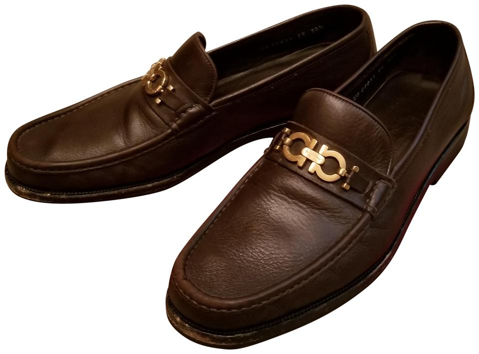 2674d1294f9 Salvatore Ferragamo Dark Brown   Master Mens Loafers Ee Formal Shoes ...