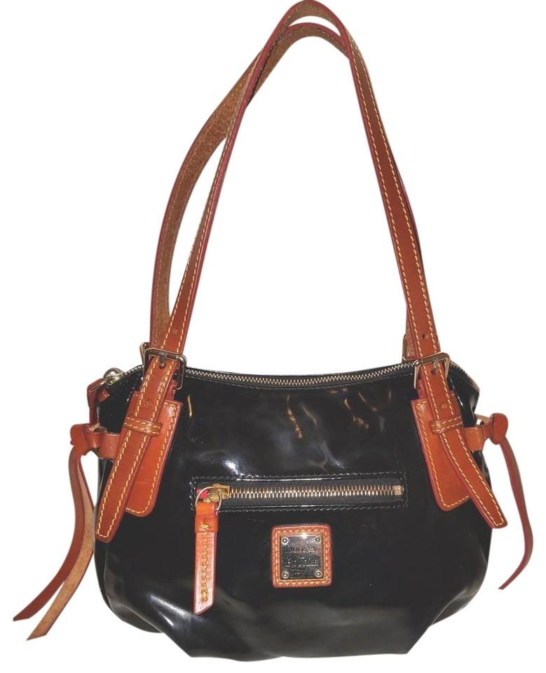 Dooney Bourke Patent Leather Medium Lined Shoulder Bag