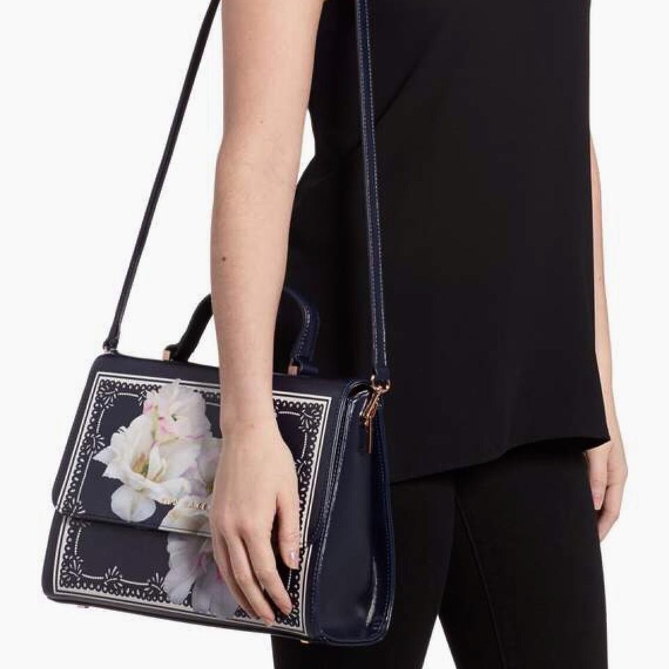 9ae15180ae Ted Baker Gardenia Navy Faux Leather Satchel - Tradesy