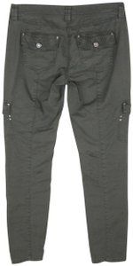 White House | Black Market Flap Pocket Stretch Military Skinny Cargo Pockets Capris Green