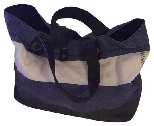 Cole Haan Tote in Blue/white/black