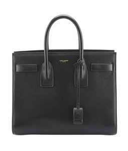 Saint Laurent Yves Leather Tote in Black