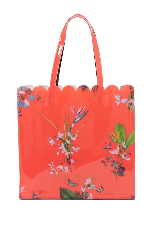 c3250ca2104a8 Ted Baker London Tropical Oasis Large Icon Mid Red Pvc Tote - Tradesy