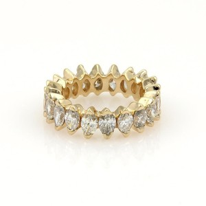 Other Beautiful 14k Yellow Gold 4ct Marquise Cut Diamond Eternity Band Ring