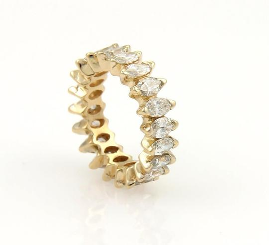 Other Beautiful 14k Yellow Gold 4ct Marquise Cut Diamond Eternity Band Ring Image 1