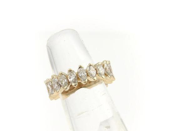 Other Beautiful 14k Yellow Gold 4ct Marquise Cut Diamond Eternity Band Ring Image 2