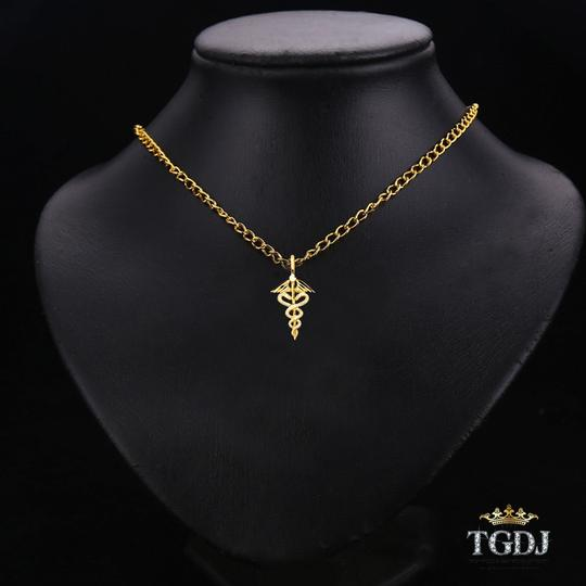 Top Gold & Diamond Jewelry Yellow Gold 14K Symbol of Medical SERVICE Pendant Image 2