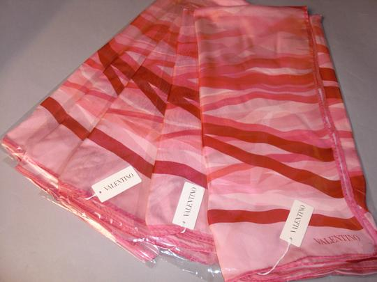 Valentino 4th Of July February Love Matching Set Of 3 Spring Ribbons Pink Ruby Red On White Couture Silk Satin Stole Shawl For Hautebride Bridesmaid Gala Luxury Gift Feminine Wedding Dress Size OS (one size) Image 5