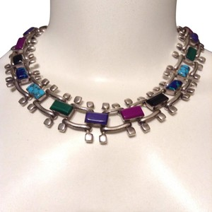 Pure silver And Colorful Stones 925
