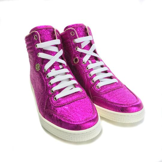 Gucci Sneakers High Tops 409793 Fuchsia Athletic Image 1