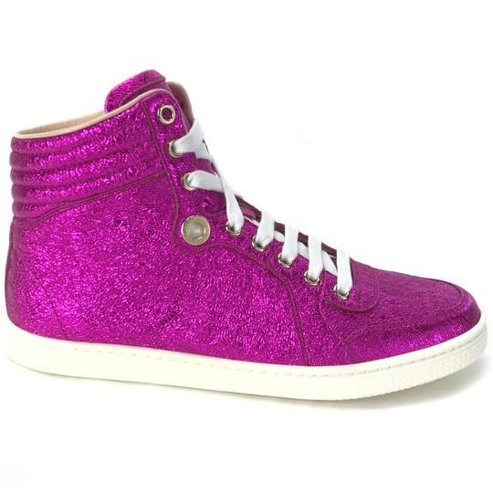 Gucci Sneakers High Tops 409793 Fuchsia Athletic Image 4