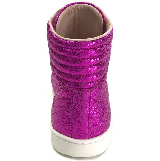 Gucci Sneakers High Tops 409793 Fuchsia Athletic Image 5