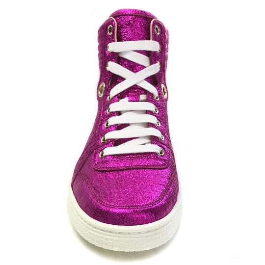 Gucci High Top Sneakers Fuchsia Athletic Image 2