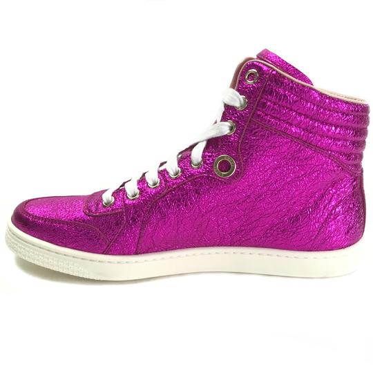 Gucci High Top Sneakers Fuchsia Athletic Image 3