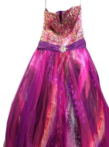Jovani Beaded Ball Gown Strapless Prom Debutante Sweet 16 Dress