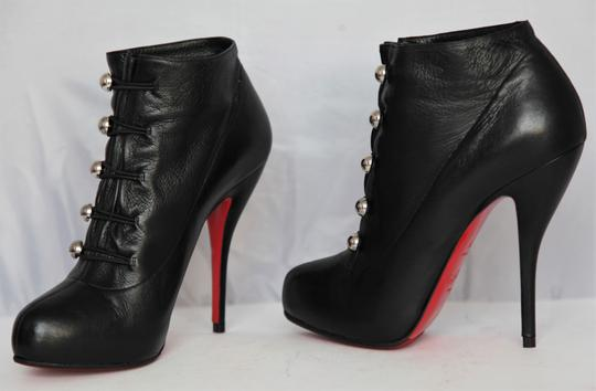 Christian Louboutin Thigh High Ankle Pumps Black Boots Image 1