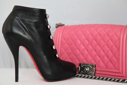 Christian Louboutin Thigh High Ankle Pumps Black Boots Image 7