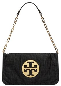 Tory Burch Dark Denim Wash Clutch