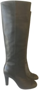 Chanel Cc Knee High Lambskin Pearly Black Boots