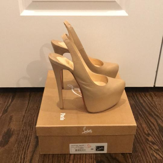 Christian Louboutin Nude Leather Platforms Image 1